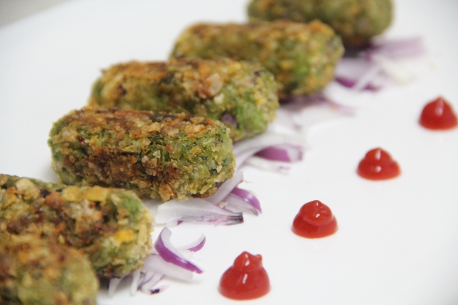Green peas kebab / mattar kebab / pachi batani kebab featured as favourtie user recipe on main page.