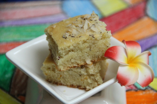 Eggless almond and cashew cake
